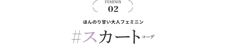 FEMININ 02 ほんのり甘い大人フェミニン #スカートコーデ
